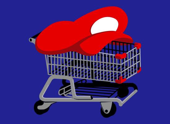 Mario shopping cart