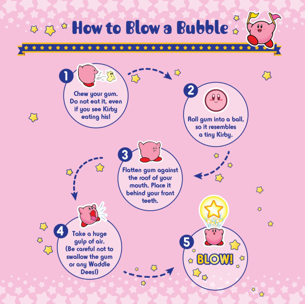 kirby bubble gum instructions