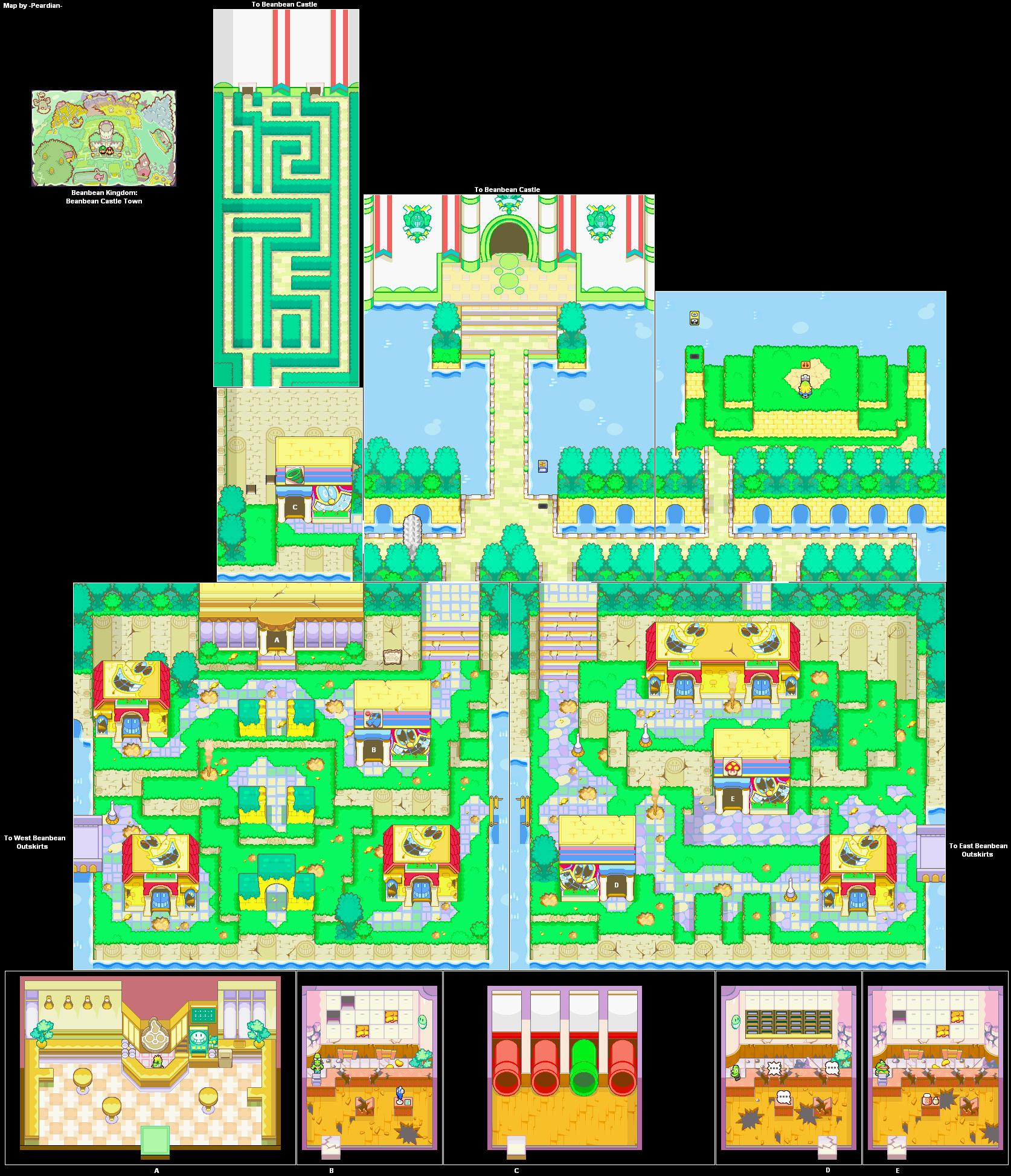 Mario Luigi Superstar Saga Gba Game Maps