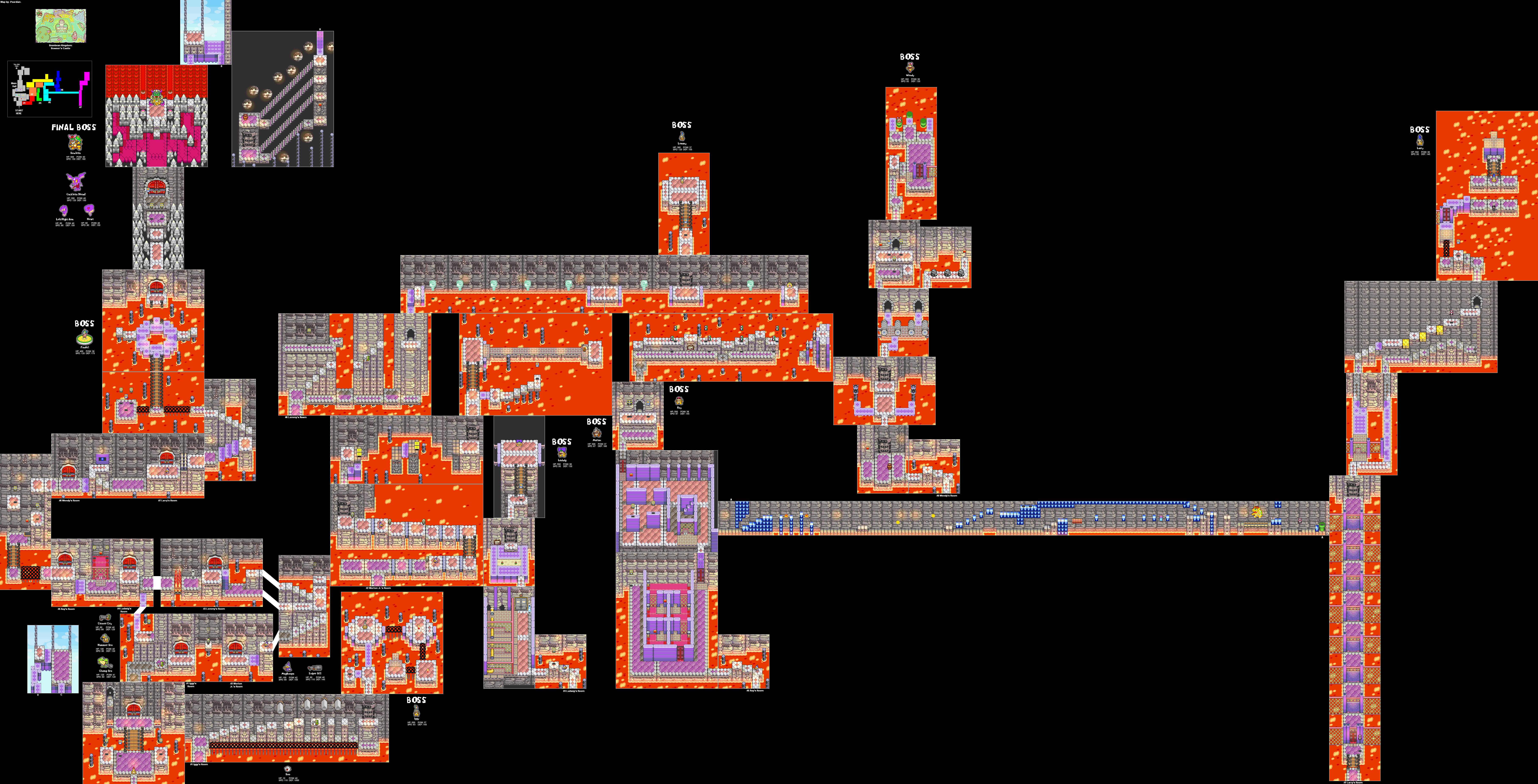 Mario & Luigi Superstar Saga - GBA - Game Maps