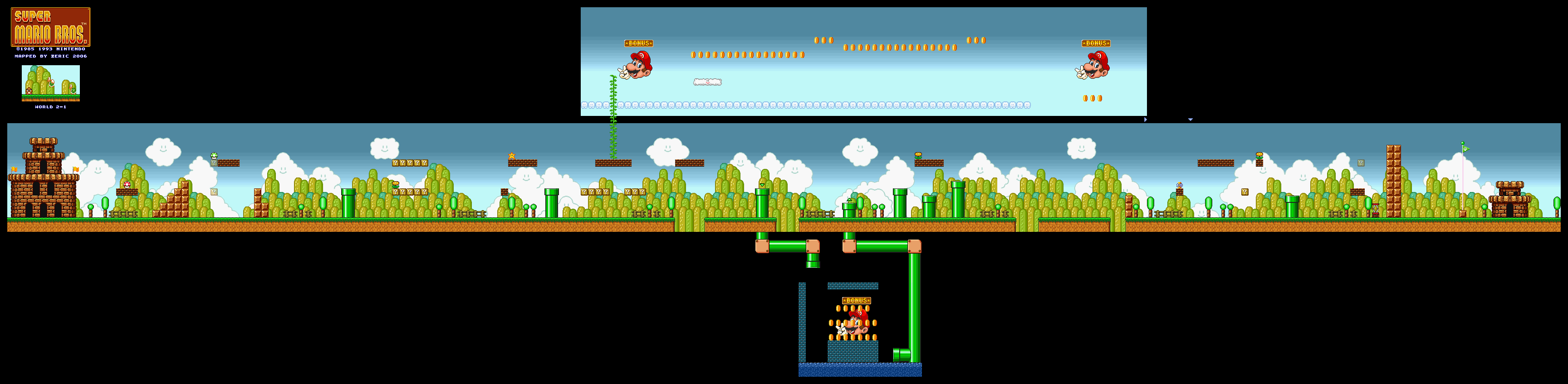 Super mario all stars super mario bros snes game maps download world 2 area 1 gumiabroncs Image collections