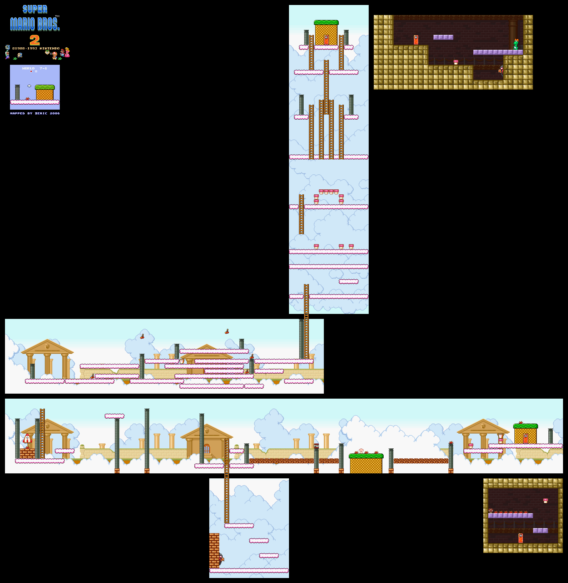 Super Mario All Stars - Super Mario Bros 2 - Snes Game Maps