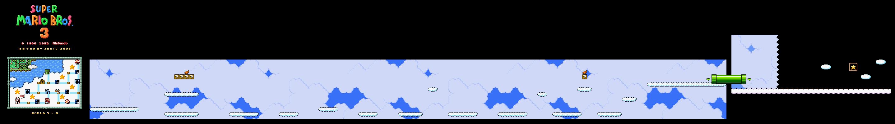 Super Mario All Stars - Super Mario Bros 3 - Snes Game Maps