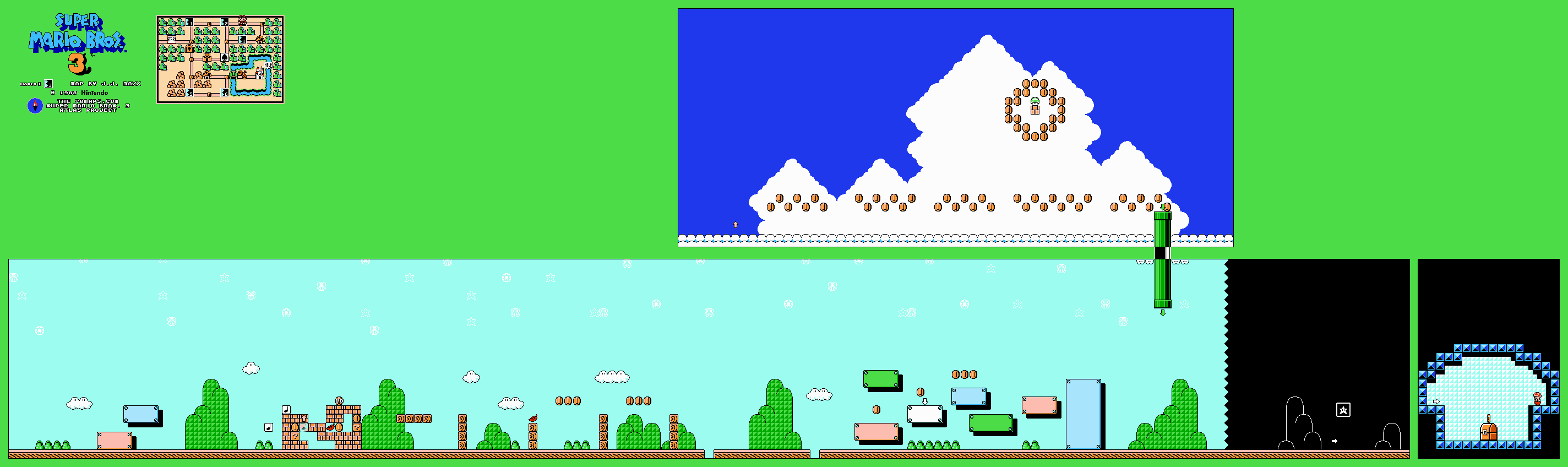 Super Mario World Maps
