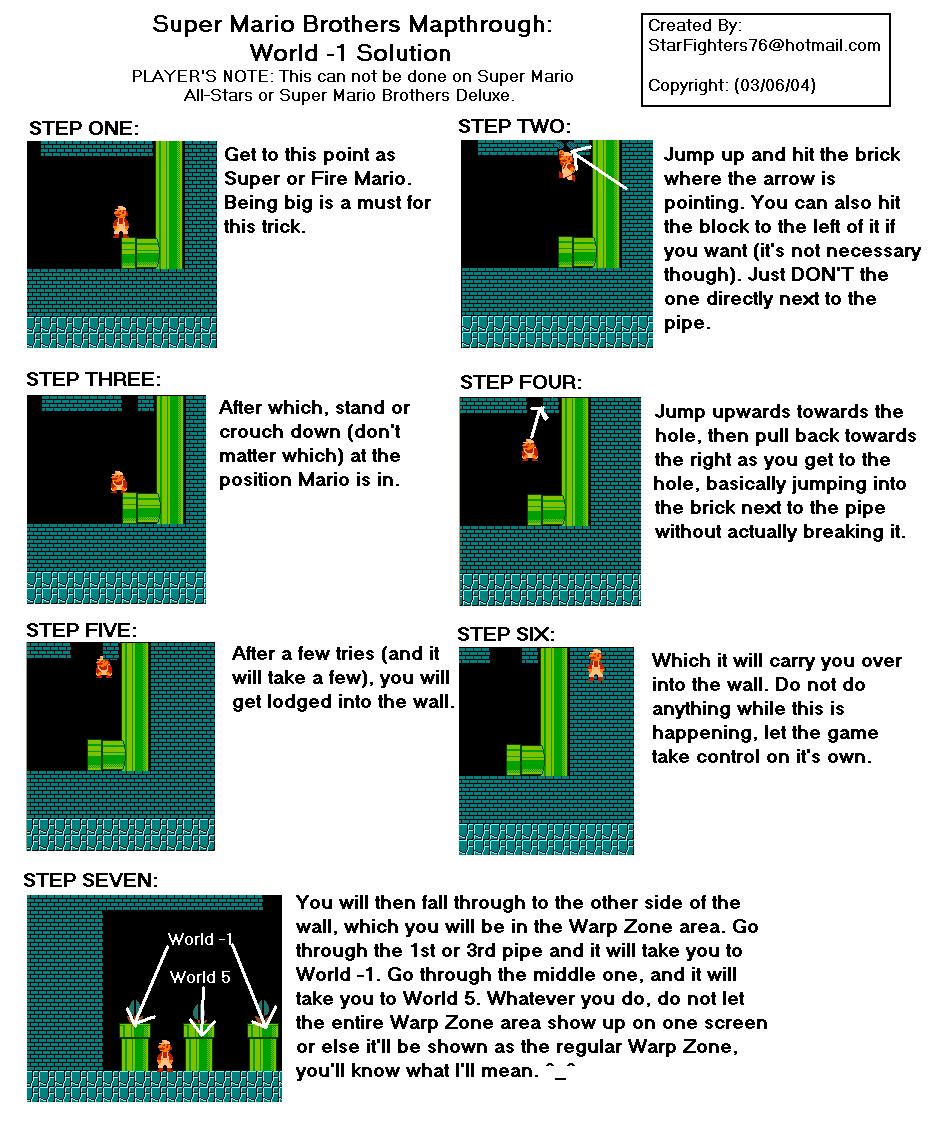 Super Mario World Maps Step Diagram For 1 How To Get
