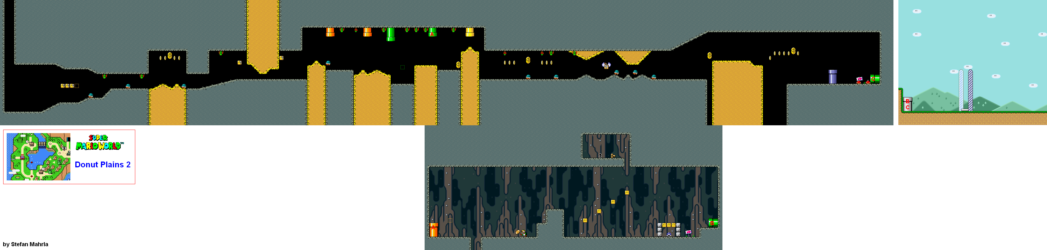 Super Mario World Levels Game Maps