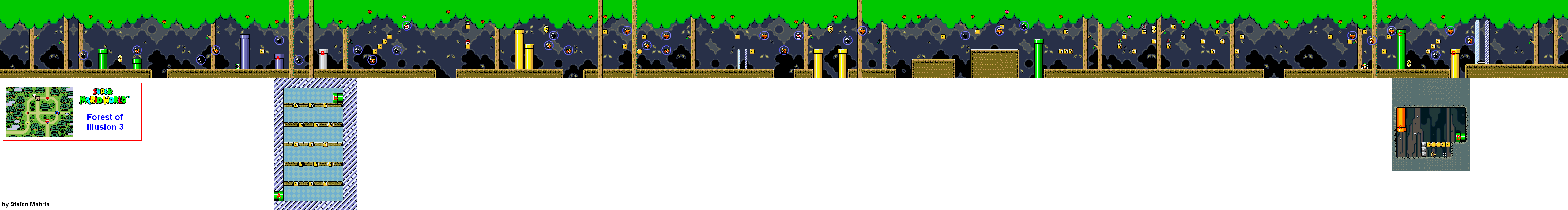 Super mario world levels game maps forest of illusion forest of illusion 3 gumiabroncs Images