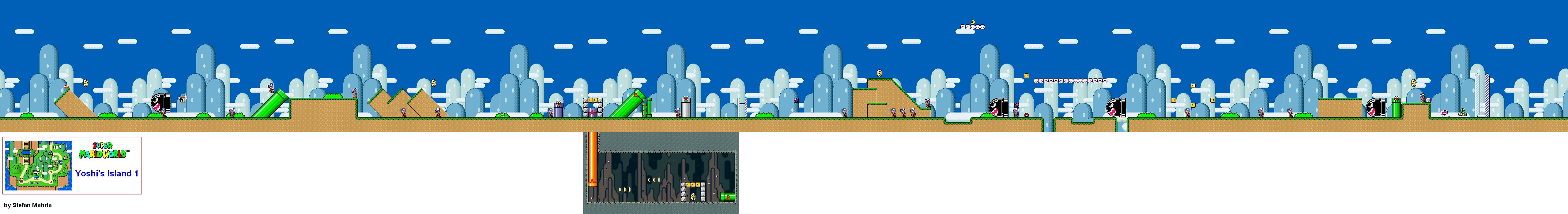 Super mario world levels game maps yoshis island yoshis island 1 gumiabroncs Image collections