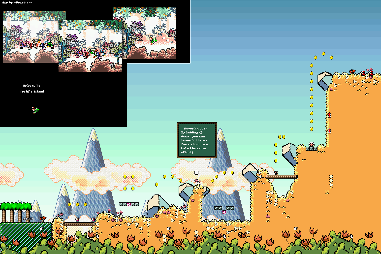 Super mario world 2 yoshis island game maps yoshis island world0 welcome to yoshis island gumiabroncs