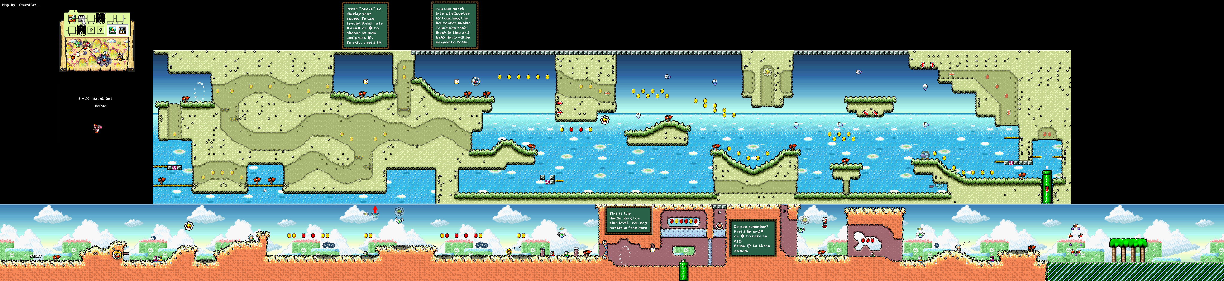 Super mario world 2 yoshis island game maps yoshis island world1 2 watchoutbelow gumiabroncs Gallery