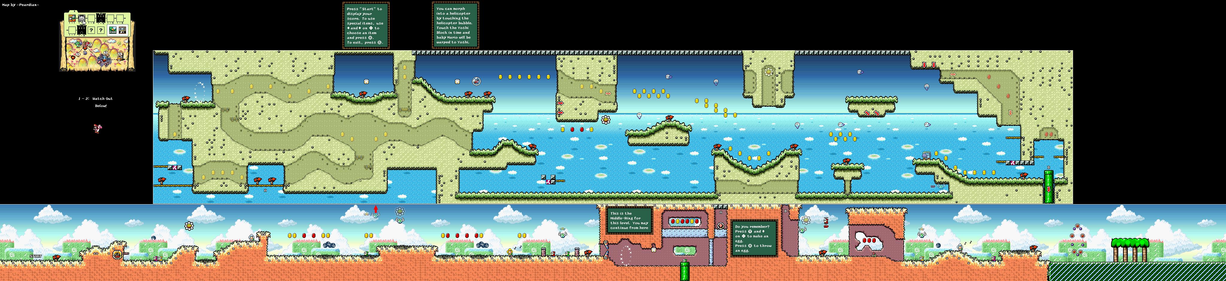 Super mario world 2 yoshis island game maps yoshis island world1 2 watchoutbelow gumiabroncs Images