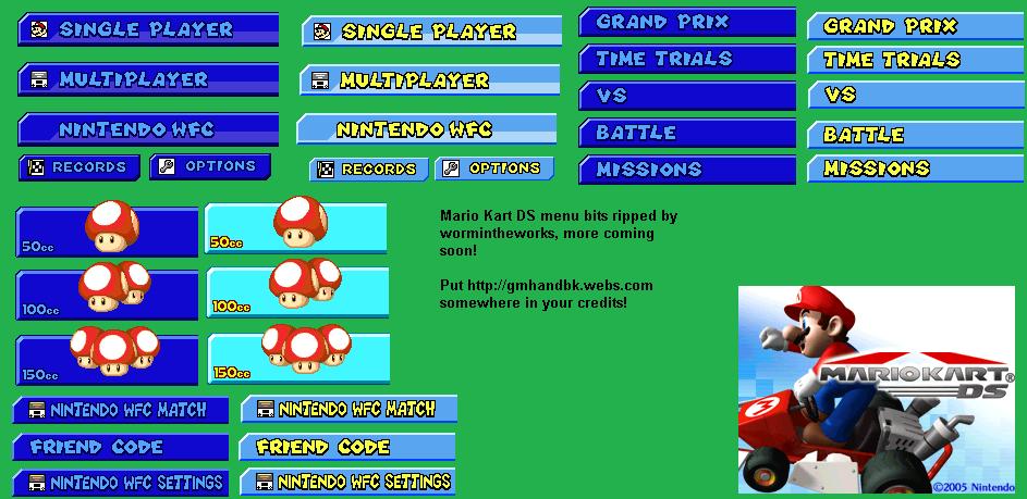 Mario Kart DS Sprites download