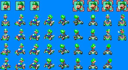 Super Mario Kart Super Circuit Sprites