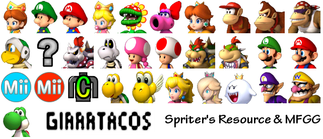 Download Mario Kart Wii game Sprites