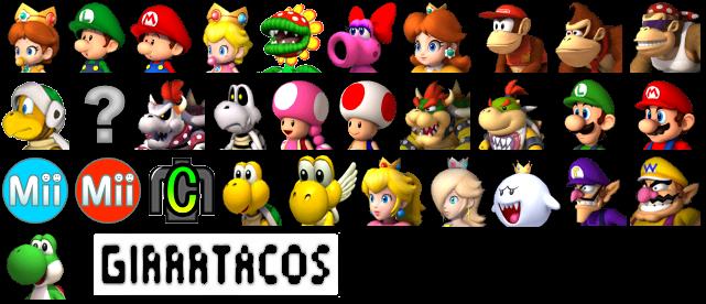 Download Mario Kart Wii Game Sprites