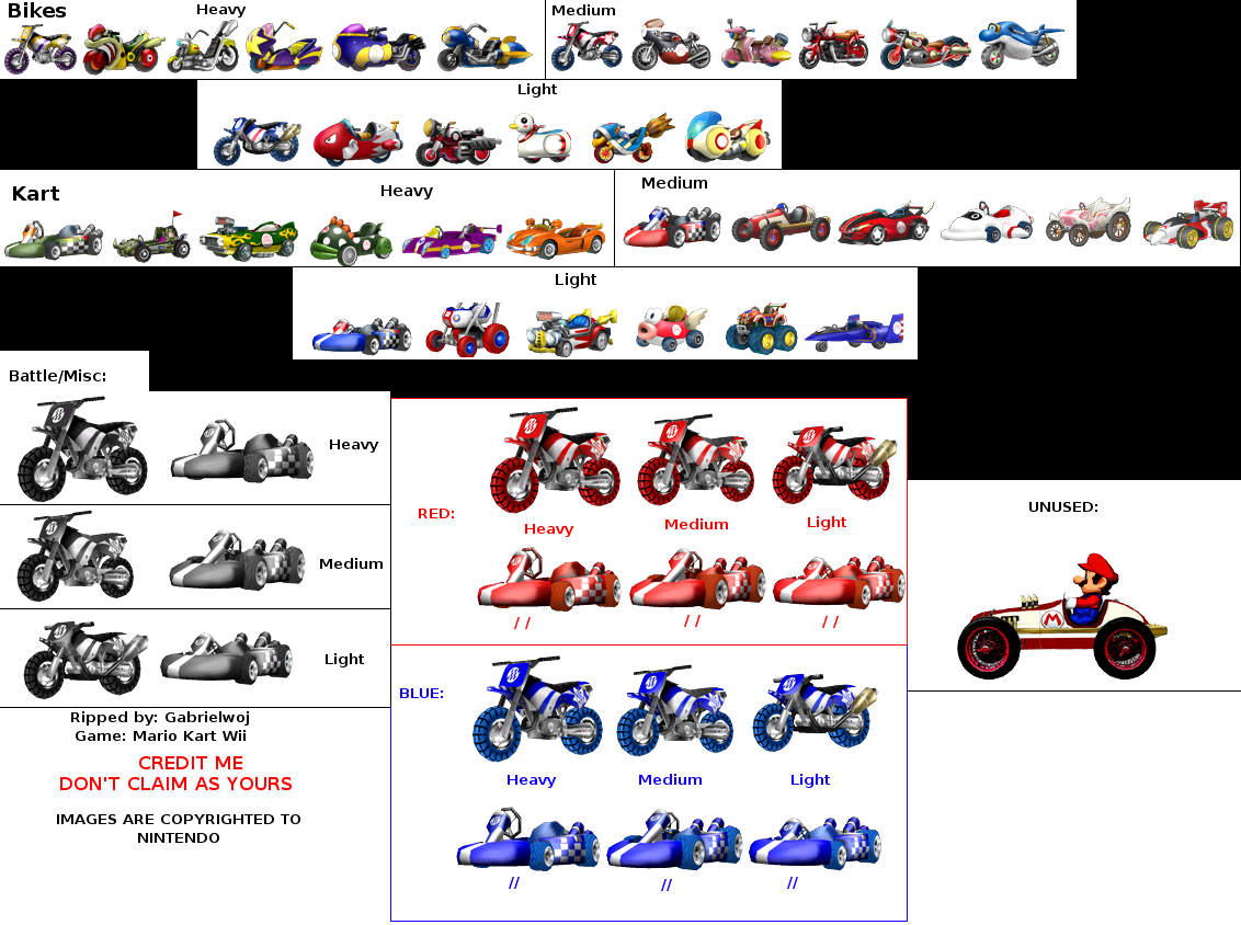 Download mario kart wii game sprites for Coupe miroir mario kart wii