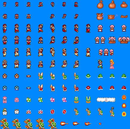 Super Mario All Stars Sprites