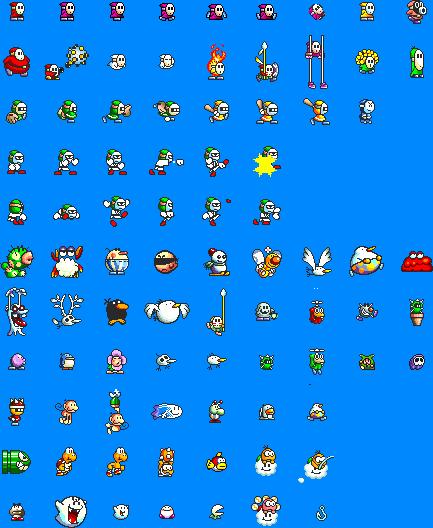 Super Mario World 2 Yoshi S Island Sprites