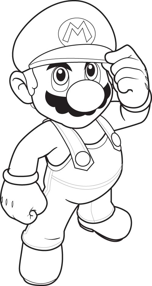 mega mario coloring pages - photo#2