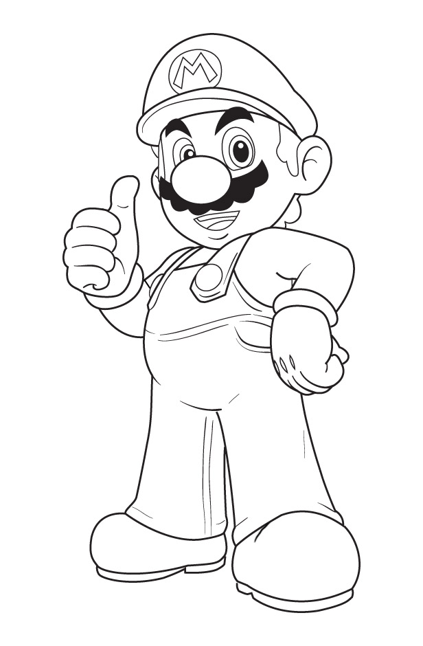 mega mario coloring pages - photo#12
