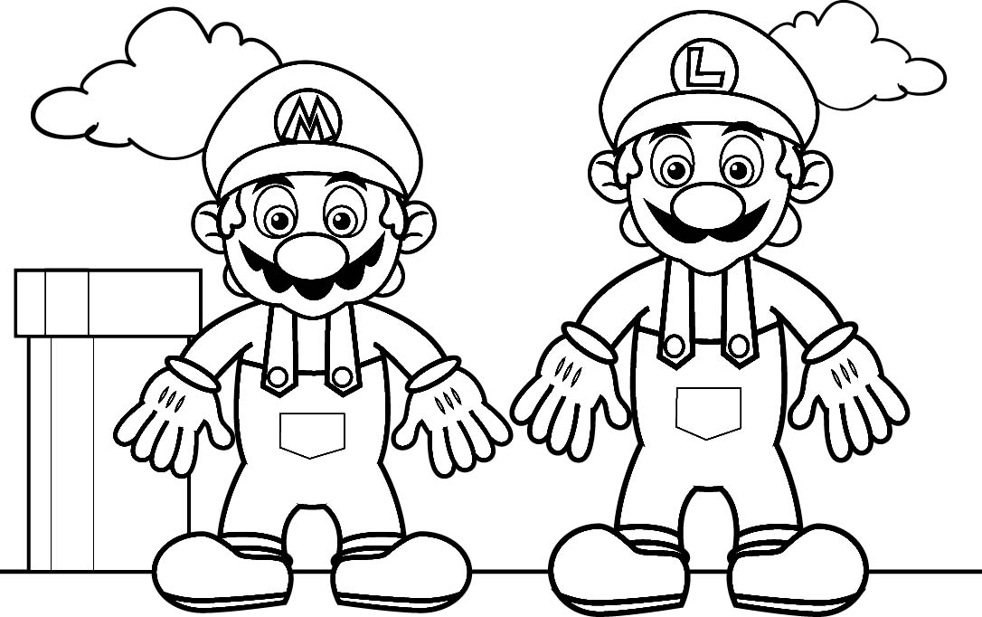 This is an image of Persnickety Mario Coloring Pages To Print