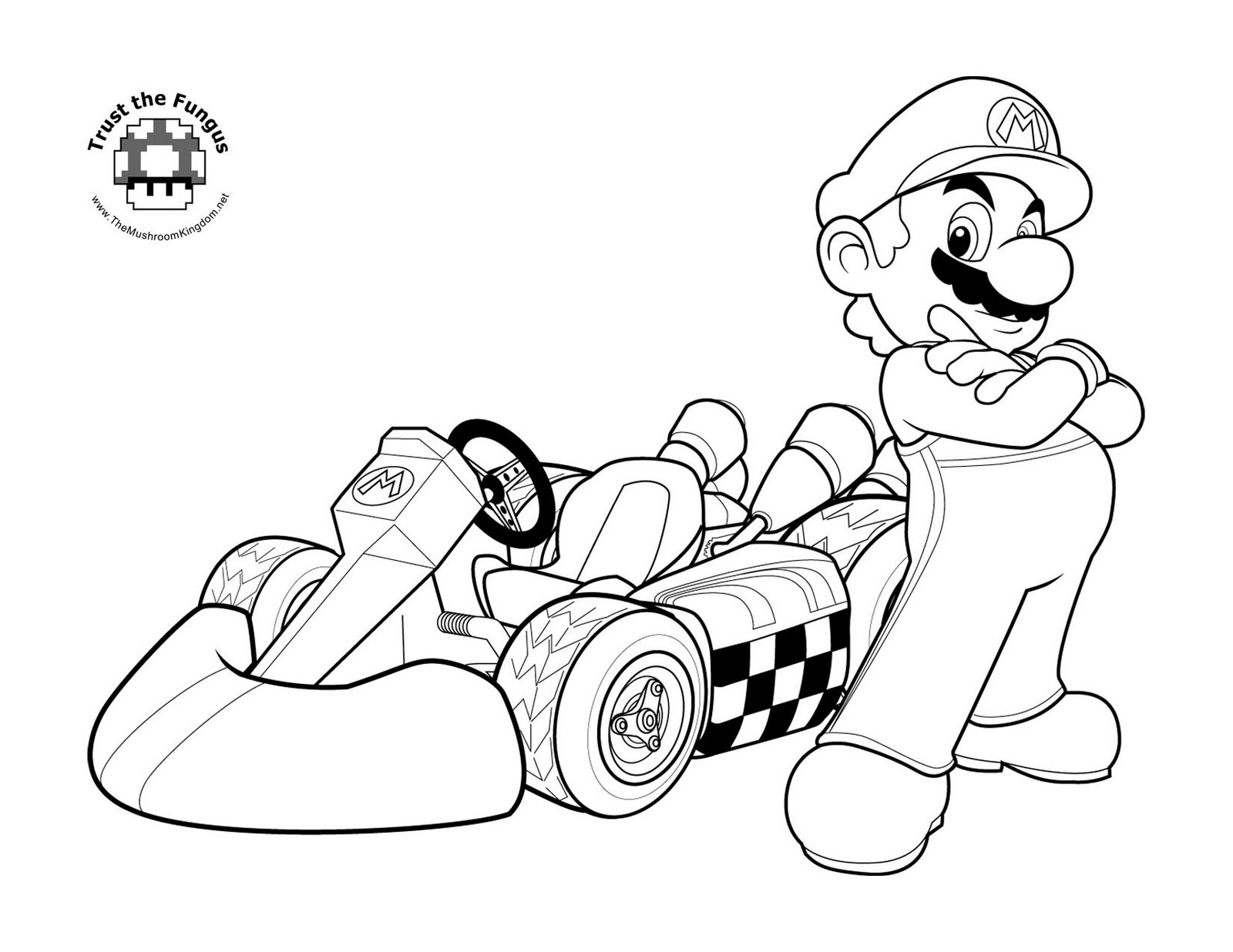 Mario Coloring pages Black and