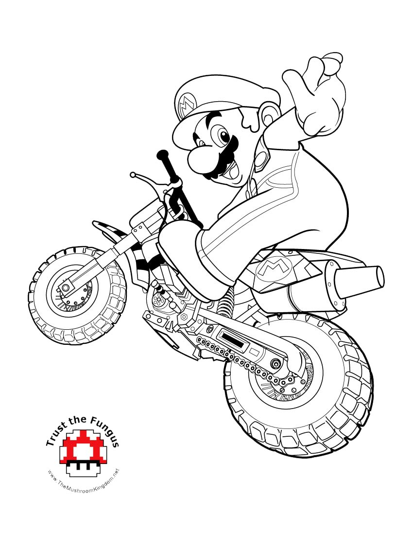Colouring pages with colour - Colour Mario In