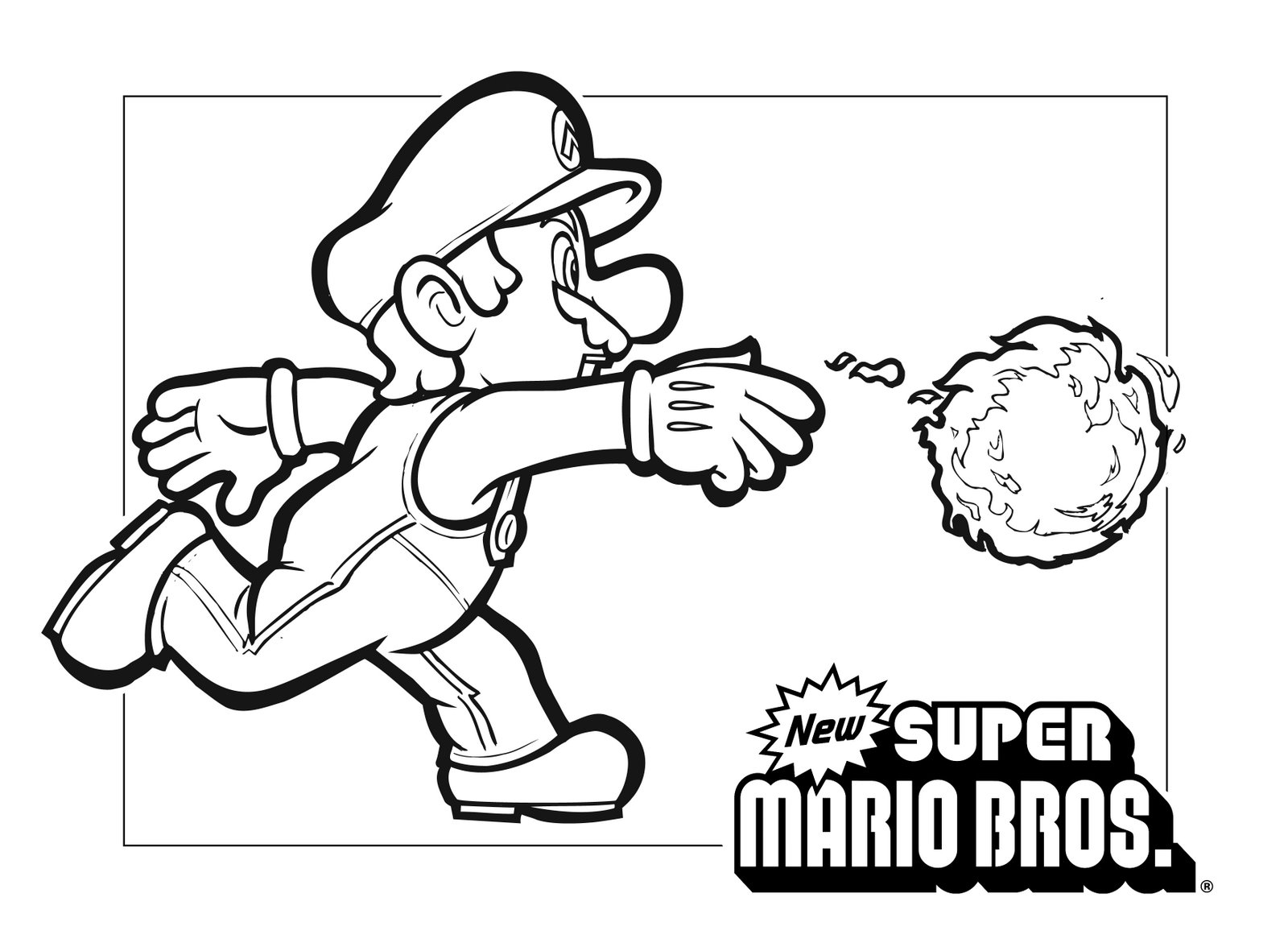Clip Art Coloring Pages Super Mario mario coloring pages black and white super drawings for colour in