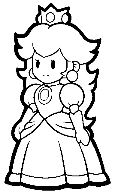 paper mario coloring pages - photo#28