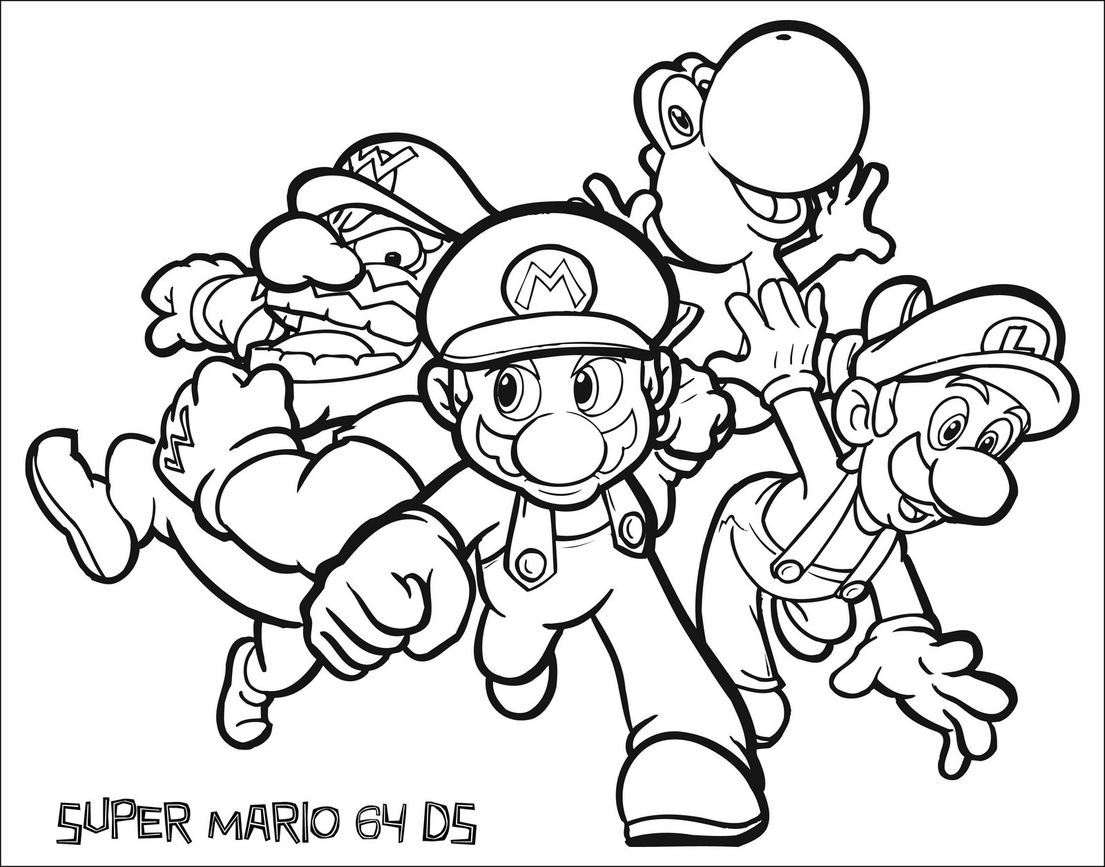 colour mario in - Images Of Coloring Pictures