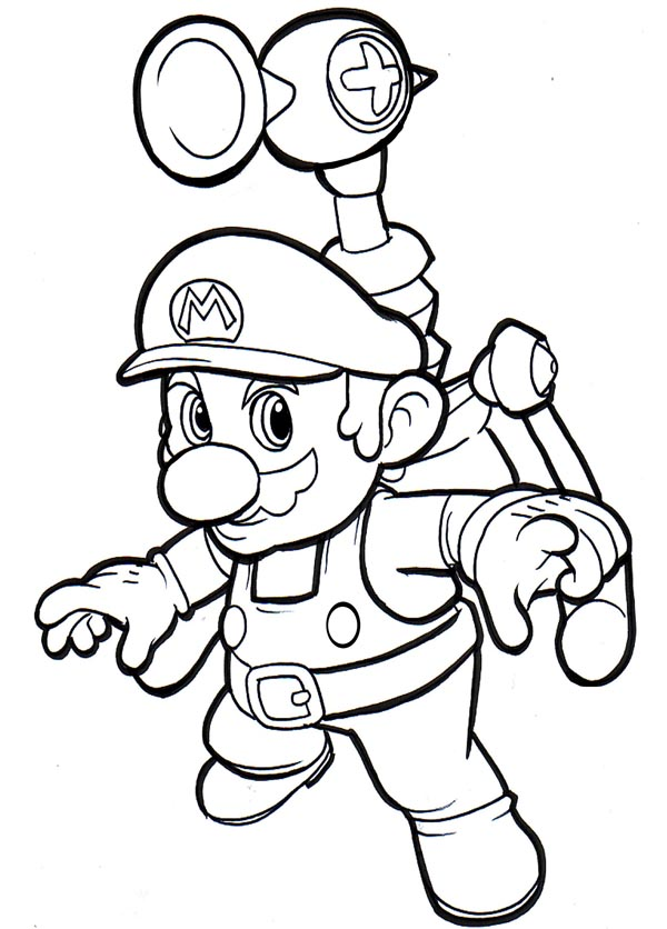 colour mario in - Drawings To Paint