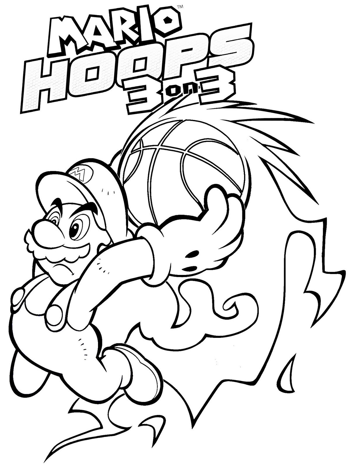 colour mario in - Mario Coloring Pages To Print