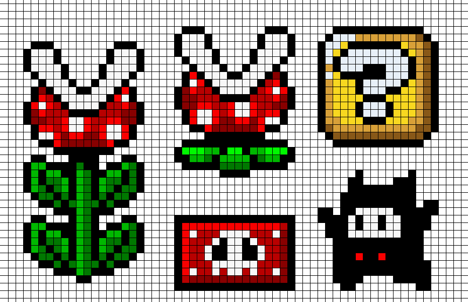 Super Mario Cross Stitch And Knitting Patterns