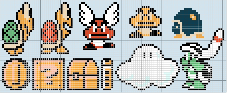 super mario bros 3 pixel art