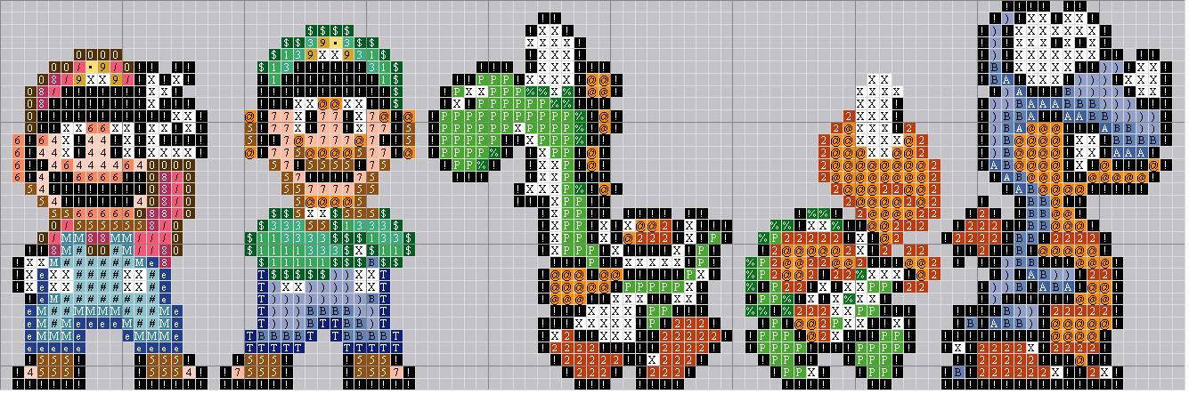 Super Mario World Stitch pattern
