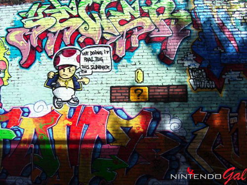 Funny Peach Super Mario Graffiti -...