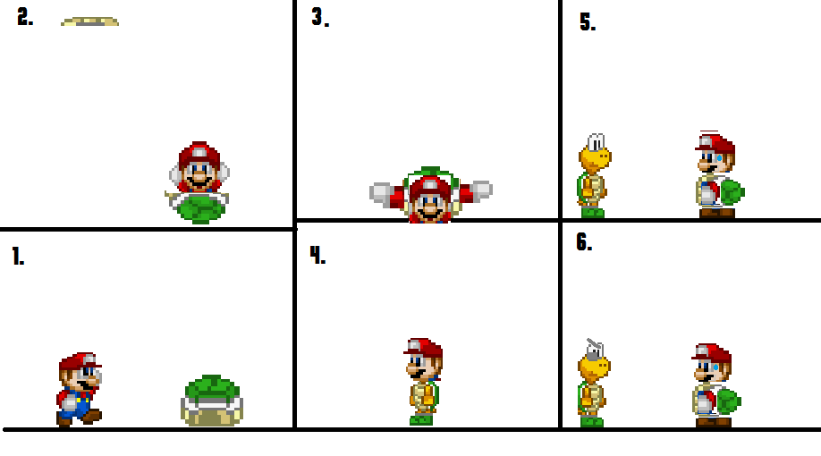 Koopa Shell Drawing Mario Finds a Koopa Shell