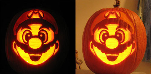 A Super Mario Brothers 3 Inspired Pumpkin