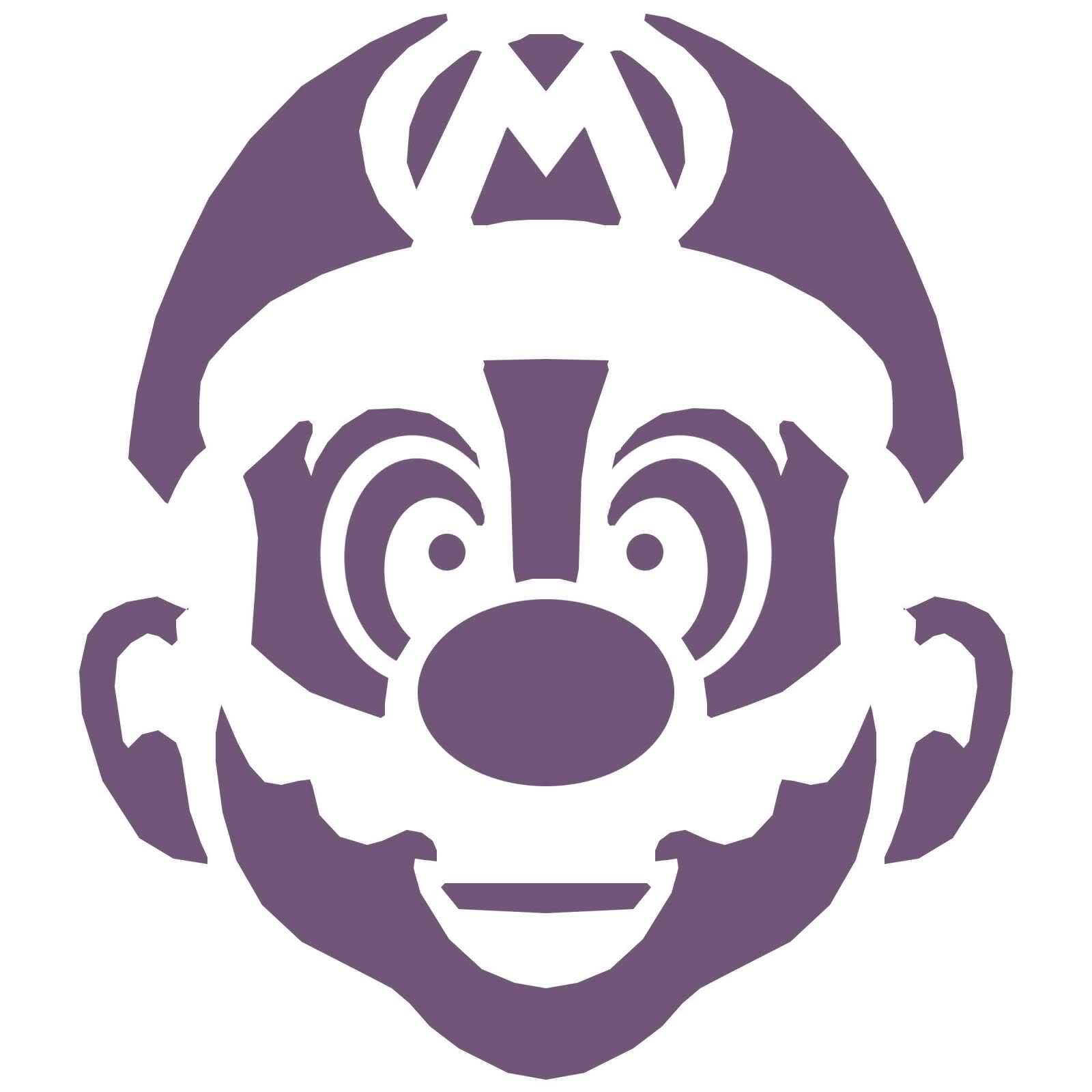 download the stencil over at mario mayhem