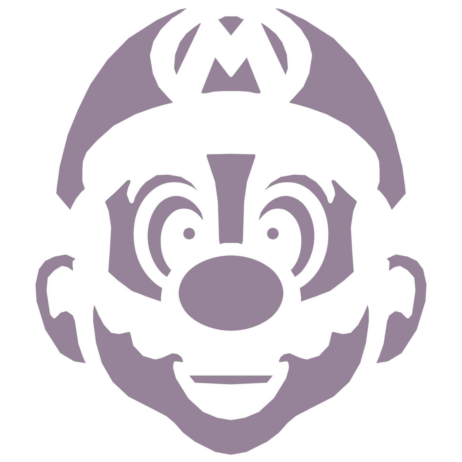 Mario Pumpkin - Spookify your pumpkin with a Mario pumpkin stencil!