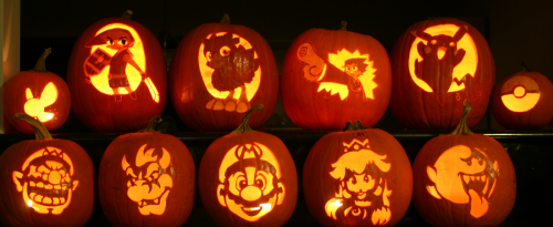 mario pumpkin spookify your pumpkin with a mario pumpkin stencil