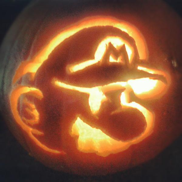 Mario pumpkin spookify your with a