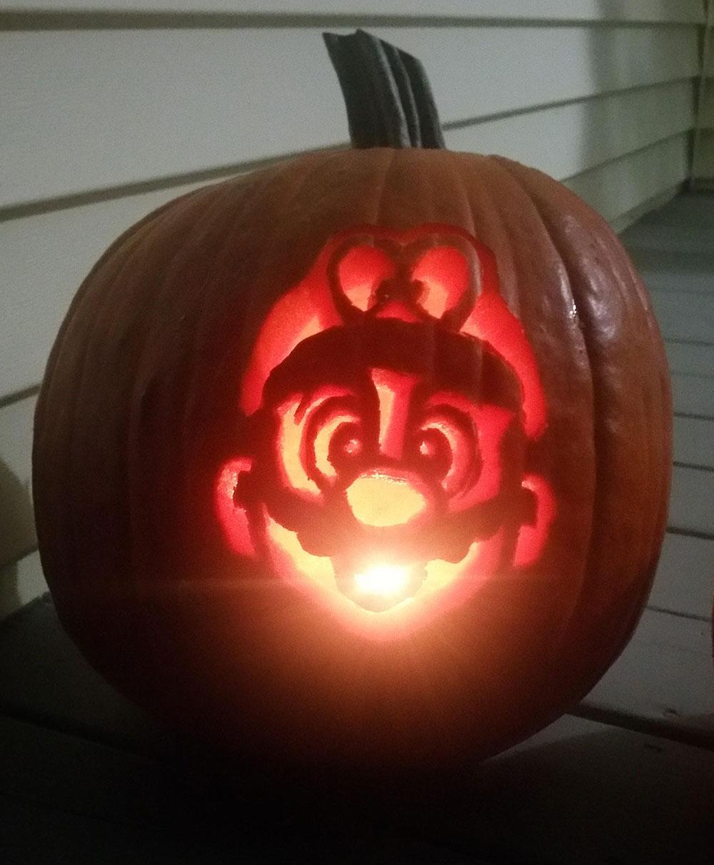 Mario Pumpkin Spookify Your Pumpkin With A Mario Pumpkin