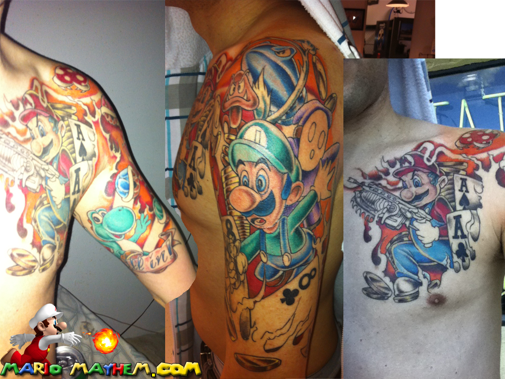 Mario Tattoos Page 2 Your Favourite Plumber In Ink Form