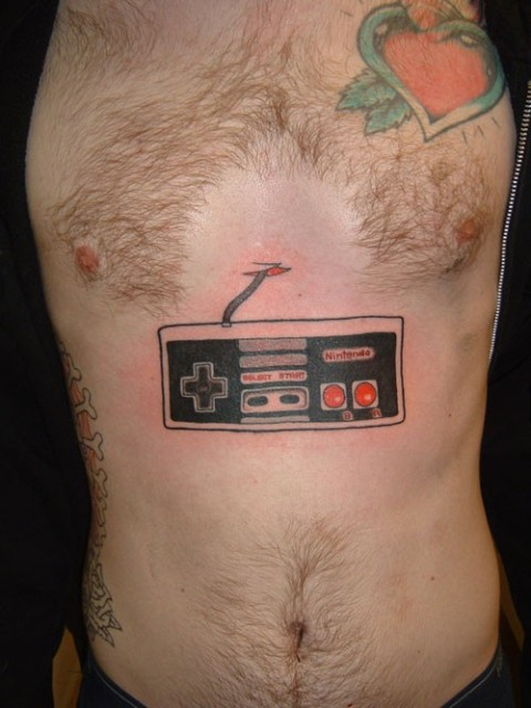 Nes controller tattoo. Another Nes fan