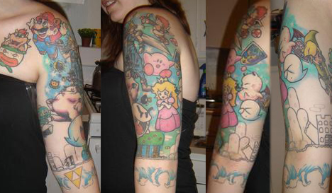 A Super Mario World themed tattoo