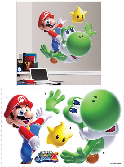Mario and Yoshi Wall Sticker