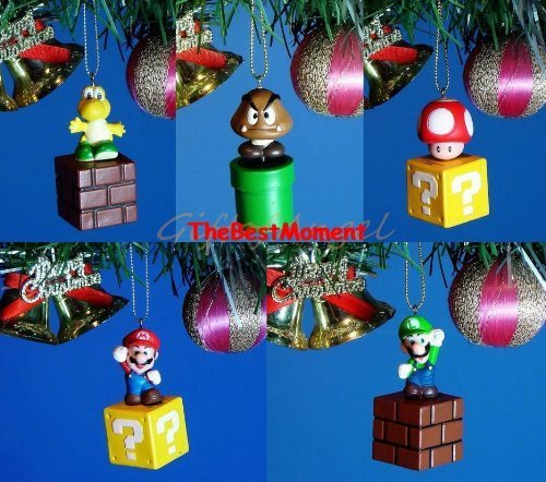 Mario christmas mario christmas gift ideas and ornaments for Mario decorations