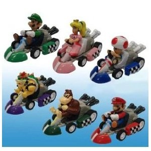 Mario Pull Back Car Set