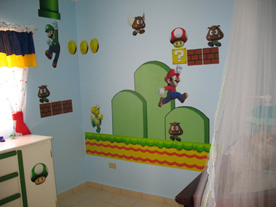 New Super Mario Bros Wall Stickers